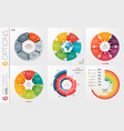 collection of 6 circle chart templates 6