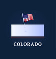 colorado state isometric map and usa natioanl vector image vector image