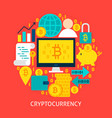 cryptocurrency flat concept vector image vector image