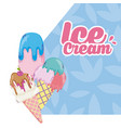 delicious ice cream cartoon vector image