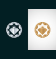 diamond logo icon design vector image vector image