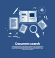 document search template web banner with copy vector image