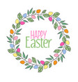 easter frame with branches vector image vector image