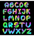 English painted alphabet vector image vector image