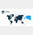 estonia location on the world map for vector image