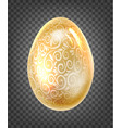 golden egg with golden fantasy texture isolated on vector image vector image