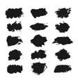hand drawn grunge set abstract brush strokes vector image vector image