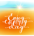 Hand Lettering vector image vector image