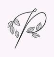 handwritten letter p monogram or logo brand vector image