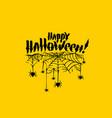 happy halloween witch pumpkin background vector image