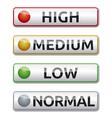 high medium low normal boards vector image vector image