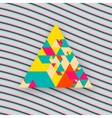 Hipster triangle background vector image vector image