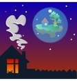 Home Sweet home at evening vector image vector image