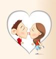 kiss vector image vector image