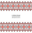 light slavic ethnic patterns template vector image
