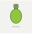 line flat color military icon - flask army vector image vector image
