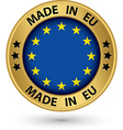 Made in Europe gold label vector image vector image