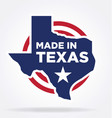 made in texas logo 01 vector image