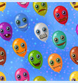 monster balloons seamless vector image vector image
