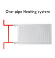 one-pipe heating system steel panel radiator vector image vector image