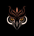 owl head logo design template vector image vector image