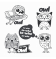 Owls design elements vector image