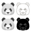panda icon in cartoon style isolated on white vector image vector image