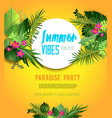 party yellow poster vector image vector image