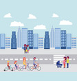 people park and city vector image vector image