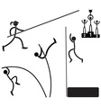 Pole vaults vector image vector image