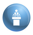 political speaker icon simple style vector image vector image