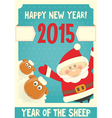 poster santa and sheep vector image