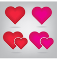 Realistic red 3d valentine heart vector image vector image