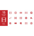 reel icons vector image vector image