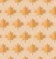 Retro fold light brown maple leaves vector image vector image