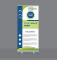 rollup standee design template vector image