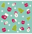 Seamless Christmas icons vector image vector image
