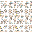 Seamless design with infants vector image vector image