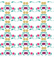 seamless pattern with beautiful vector image