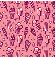 seamless pattern with ice cream vector image
