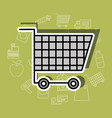 shopping cart supermarket commerce image vector image vector image