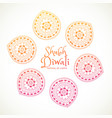 shubh diwali greeting card with paisley design vector image vector image
