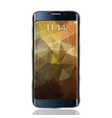 smartphone realistic mock up with triangular vector image vector image