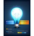 stylish brochure of the lightbulb vector image