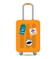 travel bag on white background flat design vector image