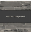 two seamless linear wooden plank borders vector image