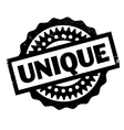 Unique rubber stamp vector image vector image
