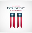 usa patriot day banner twin towers sign ribbons vector image vector image