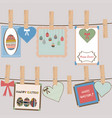 vintage easter frames and decorations hanging on vector image vector image
