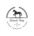 vintage logotype animal shop vector image